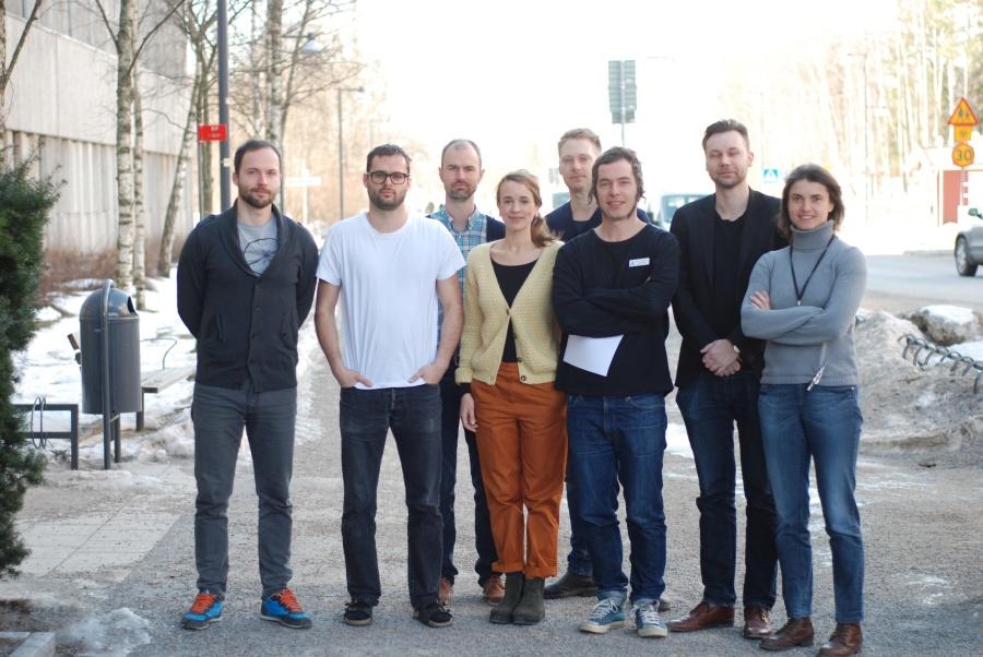 From left: Fabian Lenhard, Volen Ivanov, Christian Rück, Evelyn Andersson, Johan Larsson, Erik Andersson, Jesper Enander, Diana Radu.